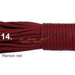 Paracord 550 linka kolor maroon red