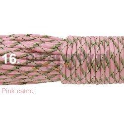 Paracord 550 linka kolor pink camo
