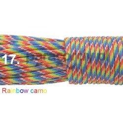 Paracord 550 linka kolor rainbow camo
