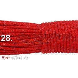 Paracord 550 linka kolor red reflective