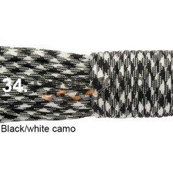 Paracord 550 linka kolor black white camo