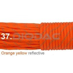 Paracord 550 linka kolor orange yellow reflective