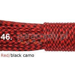 Paracord 550 linka kolor red black camo
