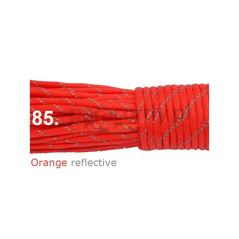 Paracord 550 linka orange reflective