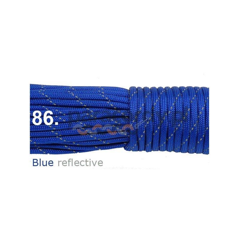 Paracord 550 linka blue reflective