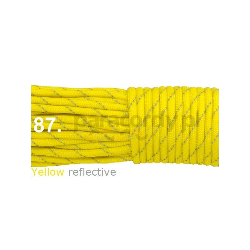 Paracord 550 linka yellow reflective