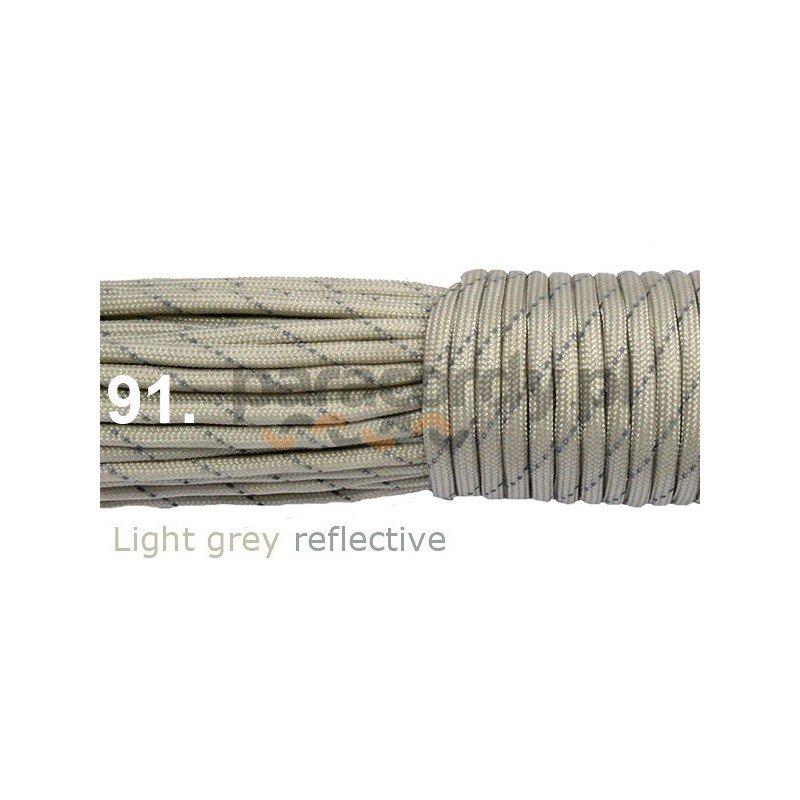 Paracord 550 linka kolor light grey reflective
