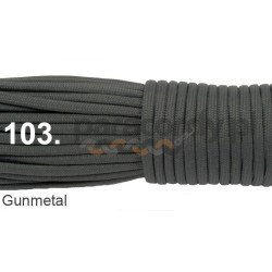 Paracord 550 linka kolor gumetal