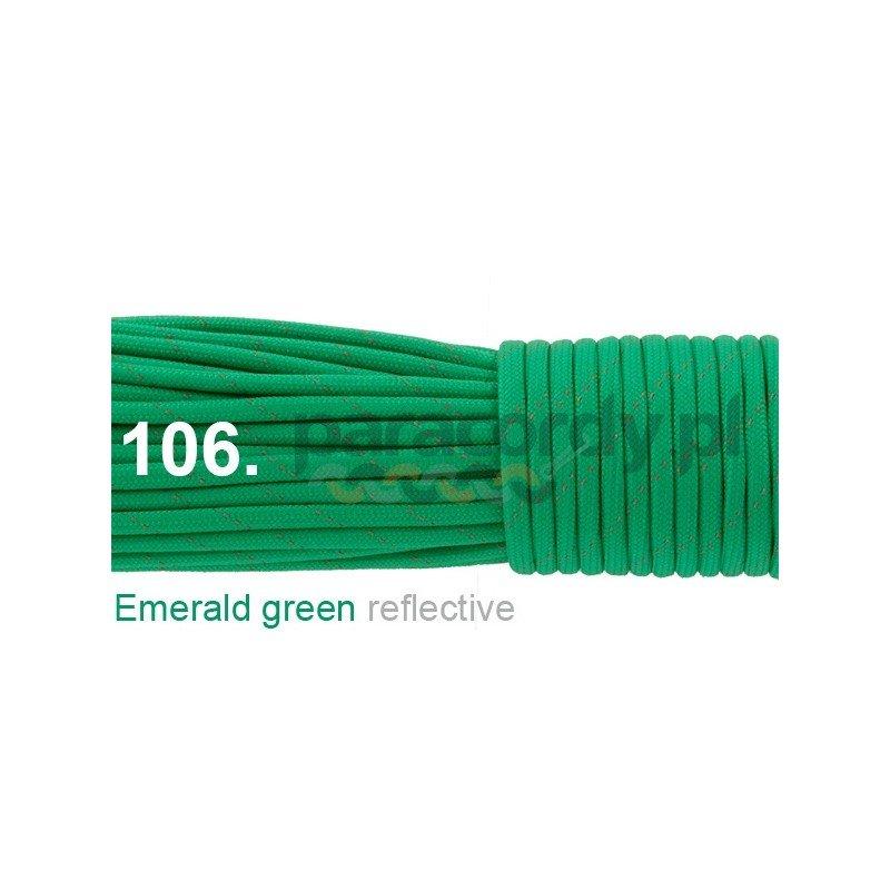 Paracord 550 linka kolor emerald reflective