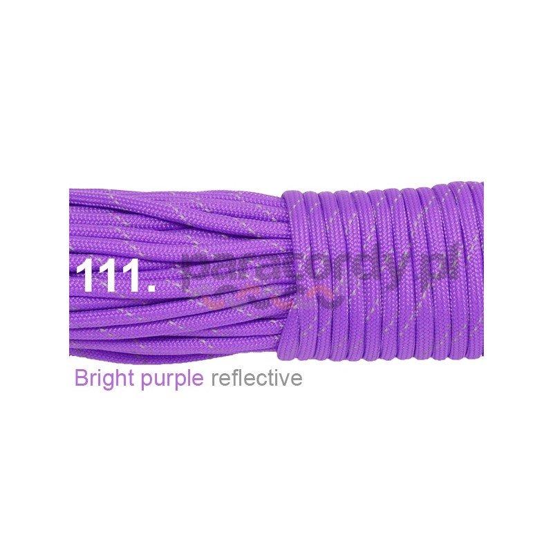 Paracord 550 linka kolor bright purple reflective