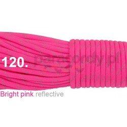 Paracord 550 linka kolor bright pink reflective