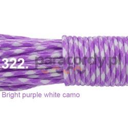 Paracord 550 linka kolor bright purple white camo
