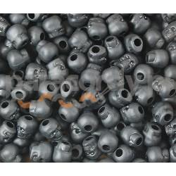 Czaszka akrylowa, do wyrobów z Paracordu, kolor czarny mat