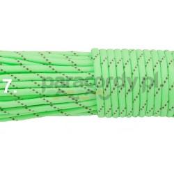 Paracord 550 GITD świecący linka kolor green reflective