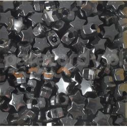 Gwiazdka akrylowa, do wyrobów z Paracordu, kolor czarny połysk