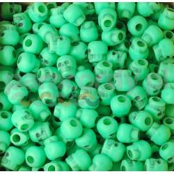 Czaszka akrylowa, do wyrobów z paracordu, kolor green