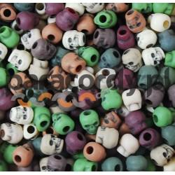 Czaszka akrylowa, do wyrobów z Paracordu, kolor: Camo Mix