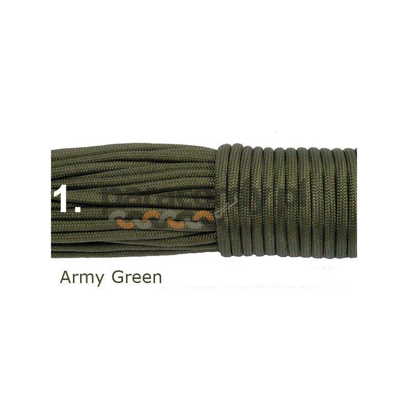 Paracord 550 kolor army green