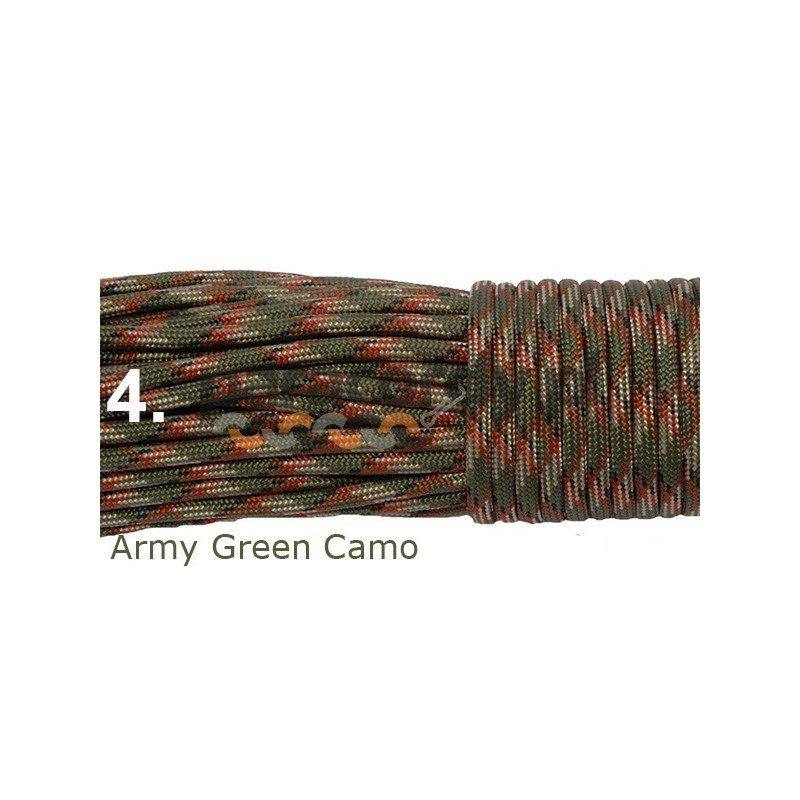 Paracord army green camo