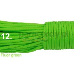 Paracord 550 linka kolor fluor green
