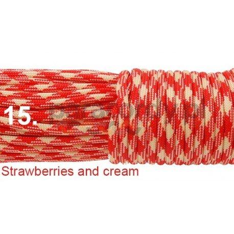 Paracord 550 linka kolor strawberries and cream