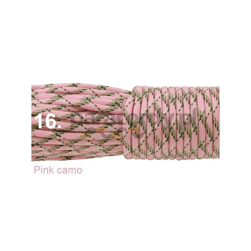 Paracord 550 linka kolor pink camo