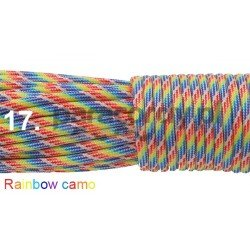 Paracord 550 linka kolor rainbow camo