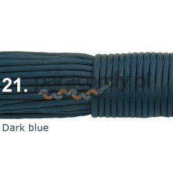 Paracord 550 linka kolordark blue
