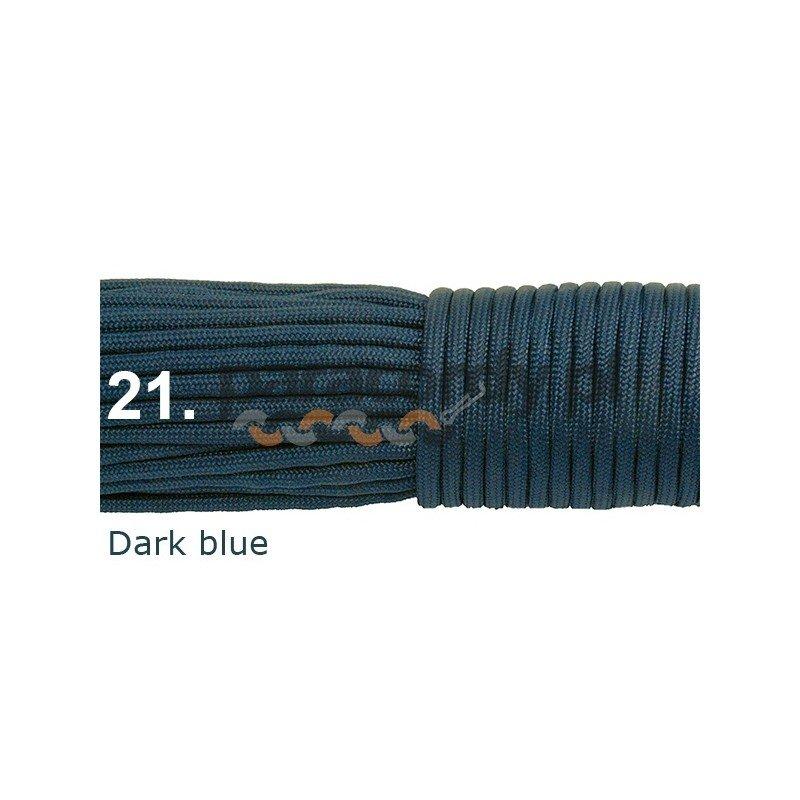 Paracord 550 linka kolordark blue