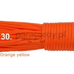 Paracord 550 linka kolor orange yellow