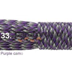 Paracord 550 linka kolor purple camo