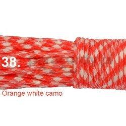 Paracord 550 linka kolor orange white camo