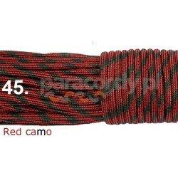 Paracord 550 linka kolor red camo