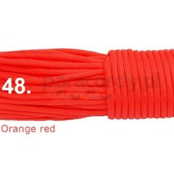 Paracord 550 linka kolor orange red