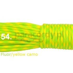 Paracord 550 linka kolor fluor yellow camo