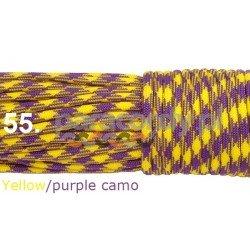Paracord 550 linka kolor yellow purple camo