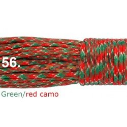 Paracord 550 linka kolor red green camo