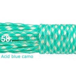 Paracord 550 linka kolor acid blue camo