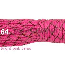 Paracord 550 linka kolor bright pink camo