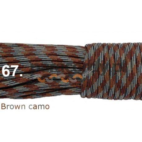 Paracord 550 linka kolor brown camo