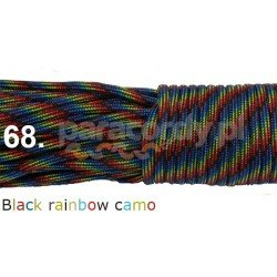 Paracord 550 linka kolor black rainbow