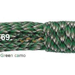 Paracord 550 linka kolor green camo