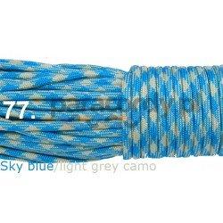 Paracord 550 linka kolor sky blue light gray camo
