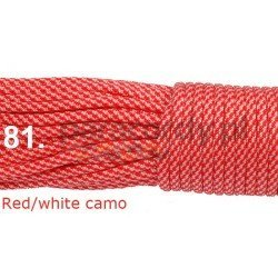 Paracord 550 linka red white camo