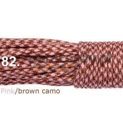 Paracord 550 linka pink brown camo