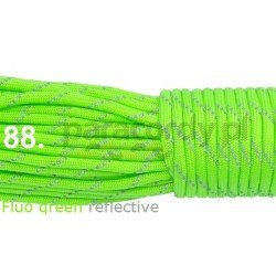 Paracord 550 linka fluo green reflective