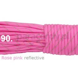 Paracord 550 linka kolor rose pink reflective