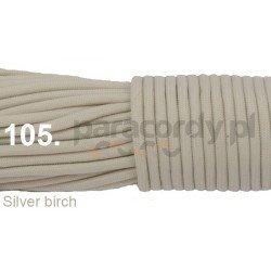 Paracord 550 linka kolor silver birch