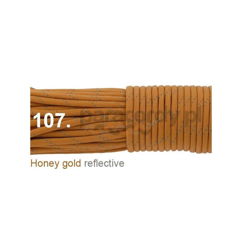 Paracord 550 linka kolor honey gold reflective