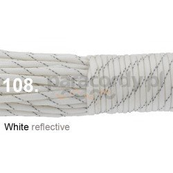 Paracord 550 linka kolor white reflective